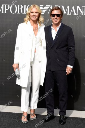 Stock Image of Valeria Mazza and Tiziano Gravier