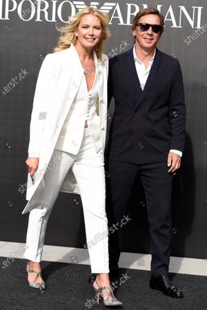 Stock Photo of Valeria Mazza and Tiziano Gravier