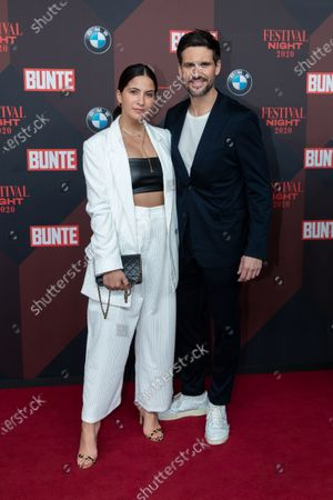 German TV actress Chryssanthi Kavazi and her husband German actor Tom Beck pose at the red carpet of Festival Night by Bunte and BMW as a part of Berlinale in Berlin, Germany, 21 February 2020.