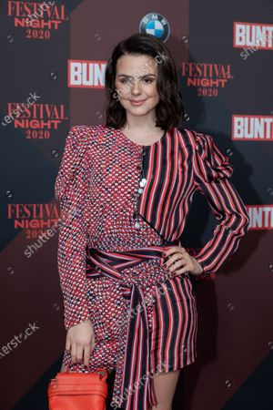 Ruby O. Fee poses at the red carpet of Festival Night by Bunte and BMW as a part of Berlinale in Berlin, Germany, 21 February 2020.