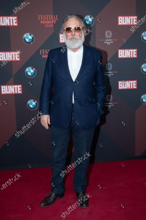 German artist and advertising icon Friedrich Liechtenstein poses at the red carpet of Festival Night by Bunte and BMW as a part of Berlinale in Berlin, Germany, 21 February 2020.