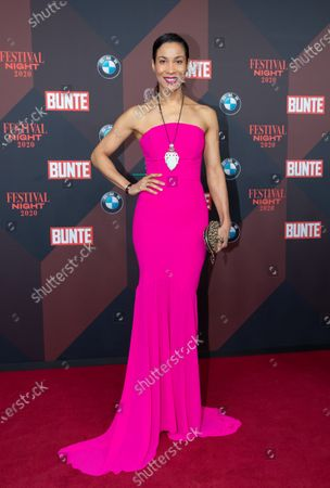 Annabelle Mandeng poses at the red carpet of Festival Night by Bunte and BMW as a part of Berlinale in Berlin, Germany, 21 February 2020.