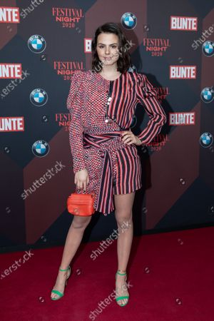 Stock Image of Ruby O. Fee poses at the red carpet of Festival Night by Bunte and BMW as a part of Berlinale in Berlin, Germany, 21 February 2020.