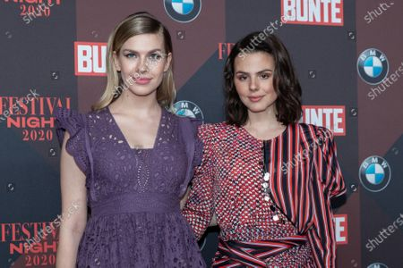 Stock Picture of German actress Zsa Zsa Inci Buerkle (L) and German actress Ruby O. Fee (R) pose at the red carpet of Festival Night by Bunte and BMW as a part of Berlinale in Berlin, Germany, 21 February 2020.