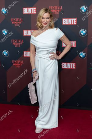 Stock Image of Veronica Ferres poses at the red carpet of Festival Night by Bunte and BMW as a part of Berlinale in Berlin, Germany, 21 February 2020.