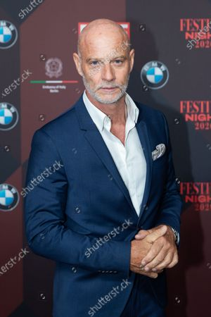 Stock Picture of Christian Berkel poses at the red carpet of Festival Night by Bunte and BMW as a part of Berlinale in Berlin, Germany, 21 February 2020.