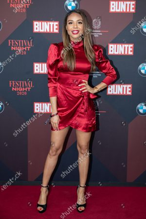 Stock Photo of Swiss TV presenter Alexandra Maurer poses at the red carpet of Festival Night by Bunte and BMW as a part of Berlinale in Berlin, Germany, 21 February 2020.