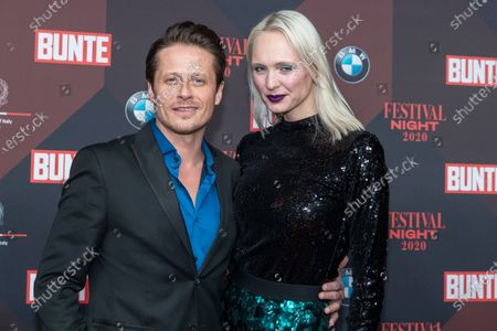 Roman Knizka (L) poses at the red carpet of Festival Night by Bunte and BMW as a part of Berlinale in Berlin, Germany, 21 February 2020.