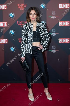 Nadine Warmuth poses at the red carpet of Festival Night by Bunte and BMW as a part of Berlinale in Berlin, Germany, 21 February 2020.
