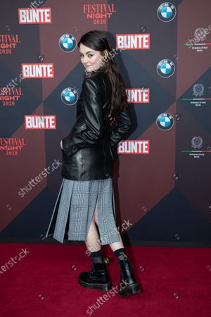 Lea van Acken poses at the red carpet of Festival Night by Bunte and BMW as a part of Berlinale in Berlin, Germany, 21 February 2020.