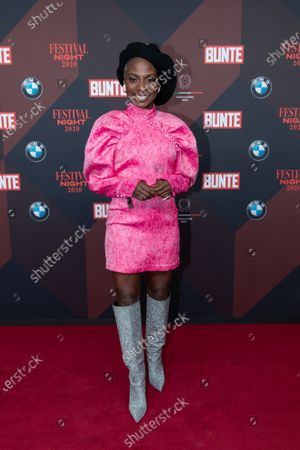 Nikeata Thompson poses at the red carpet of Festival Night by Bunte and BMW as a part of Berlinale in Berlin, Germany, 21 February 2020.