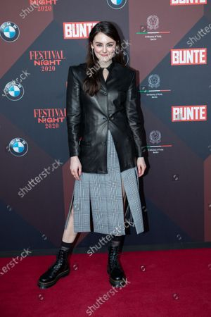 Stock Picture of Lea van Acken poses at the red carpet of Festival Night by Bunte and BMW as a part of Berlinale in Berlin, Germany, 21 February 2020.