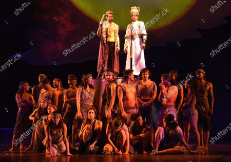 Luke Brady and Liam Tamne in a scene from 'Prince of Egypt'