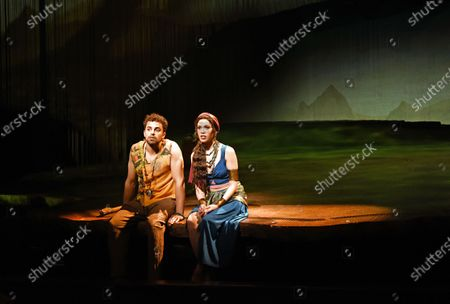 Christine Allado and Luke Brady in a scene from 'Prince of Egypt'
