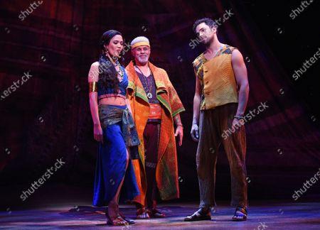 Christine Allado, Gary Wilmot, Luke Brady in a scene from 'Prince of Egypt'