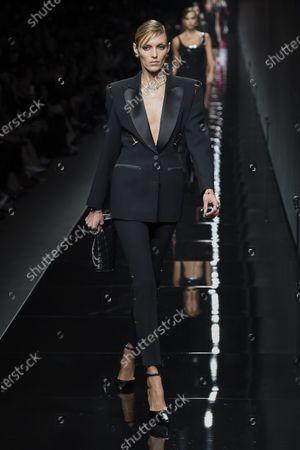 Editorial photo of Versace show, Runway, Fall Winter 2020, Milan Fashion Week, Italy - 21 Feb 2020