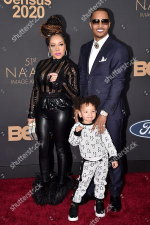 Stock Picture of Tameka Harris, T I. and guest