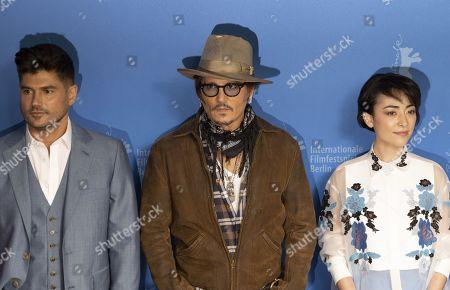 Stock Image of Andrew Levitas, Johnny Depp and Minami Hinase