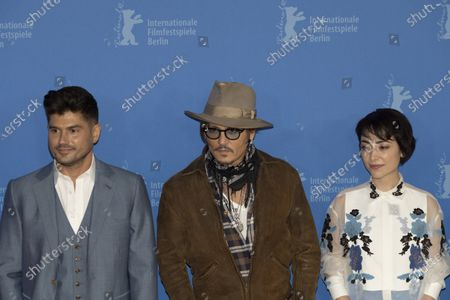 Stock Picture of Andrew Levitas, Johnny Depp and Minami Hinase