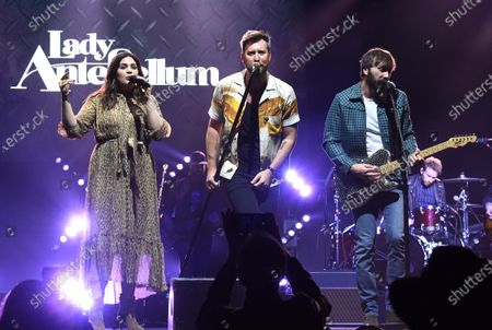 Stock Photo of Lady Antebellum - Hillary Scott, Charles Kelley and Dave Haywood