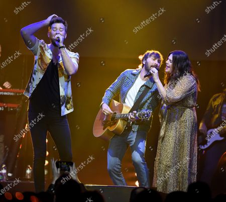 Stock Image of Lady Antebellum - Hillary Scott, Charles Kelley and Dave Haywood