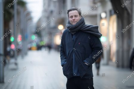 British writer Max Porter poses during an interview in Barcelona, Spain, 21 February 2020 (issued 22 February 2020). Porter is in Barcelona for the presentation of the Spanish edition of his novel 'Lanny'.