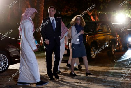 Canadian Minister of Finance Bill Morneau (C) arrives at a historic site after the first meeting of Finance ministers and central bank governors of the G20, in Riyadh, Saudi Arabia, 22 February 2020. Finance ministers and central bank governors of the G20 are meeting in Riyadh on 22-23 February. Saudi Arabia will be hosting the 2020 G20 Leaders' Summit scheduled for 21-22 November.