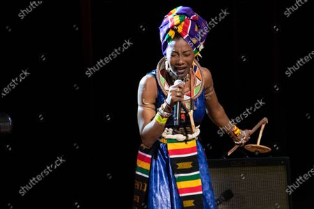 Editorial picture of Fatoumata Diawara in concert, New York, USA - 21 Feb 2020