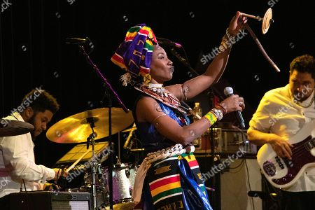 Editorial image of Fatoumata Diawara in concert, New York, USA - 21 Feb 2020
