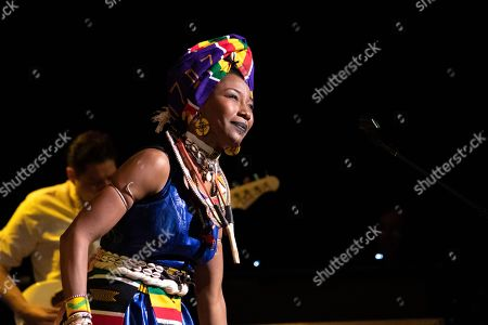 Editorial photo of Fatoumata Diawara in concert, New York, USA - 21 Feb 2020