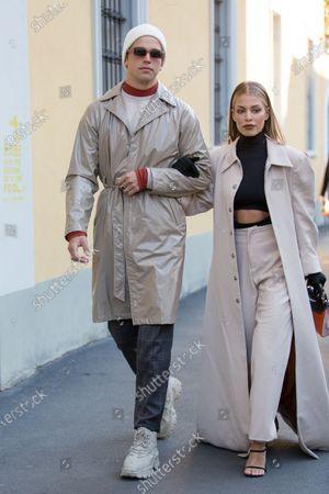 Editorial photo of Street Style, Fall Winter 2020, Milan Fashion Week, Italy - 21 Feb 2020