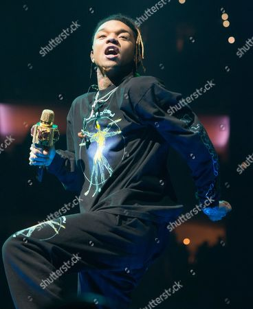 "Swae Lee performs in concert as the opening act for Post Malone during his ""Runaway Tour"" at The Wells Fargo Center, in Philadelphia"