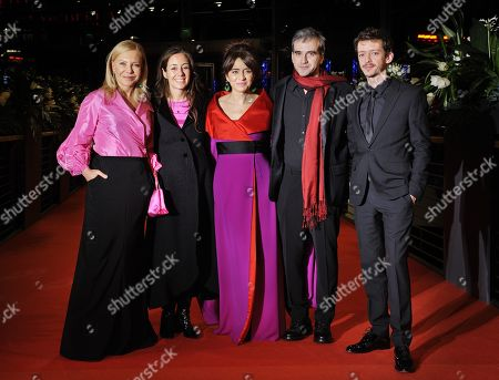 Stock Image of Nahuel Perez Biscayart, Cecilia Roth, Erica Rivas, Director Natalia Meta and Daniel Hendler.