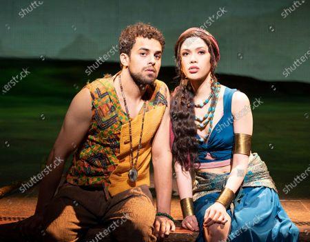 Christine Allado as Tzipporah, Luke Brady as Moses