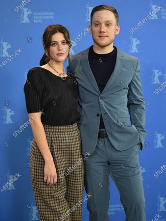 Callie Hernandez and actor Joe Cole pose during the 'One Of These Days' photocall during the 70th annual Berlin International Film Festival (Berlinale), in Berlin, Germany, 22 February 2020. The movie is presented in the Panorama section at the Berlinale that runs from 20 February to 01 March 2020.