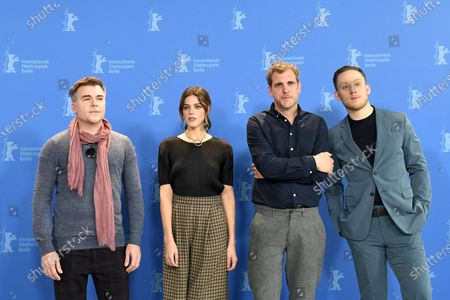 Cullen Moss, US actress Callie Hernandez, Director Bastian Guenther and British actor Joe Cole pose during the 'One of These Days' photocall during the 70th annual Berlin International Film Festival (Berlinale), in Berlin, Germany, 22 February 2020. The movie is presented in the Panorama section at the Berlinale that runs from 20 February to 01 March 2020.