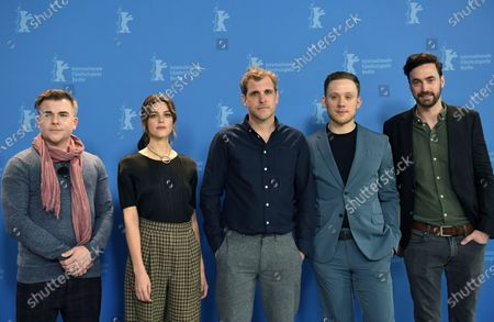 Cullen Moss, Callie Hernandez, director Bastian Guenther and actors Joe Cole and Jared Bankens pose during the 'One Of These Days' photocall during the 70th annual Berlin International Film Festival (Berlinale), in Berlin, Germany, 22 February 2020. The movie is presented in the Panorama section at the Berlinale that runs from 20 February to 01 March 2020.
