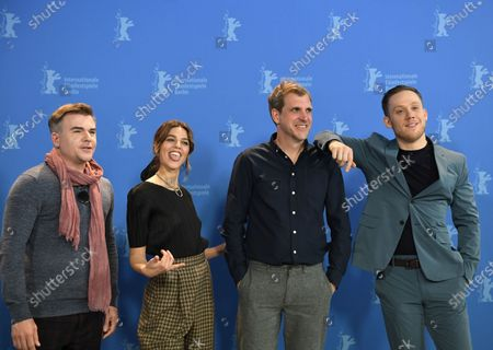Cullen Moss, Callie Hernandez, director Bastian Guenther and actor Joe Cole pose during the 'One Of These Days' photocall during the 70th annual Berlin International Film Festival (Berlinale), in Berlin, Germany, 22 February 2020. The movie is presented in the Panorama section at the Berlinale that runs from 20 February to 01 March 2020.