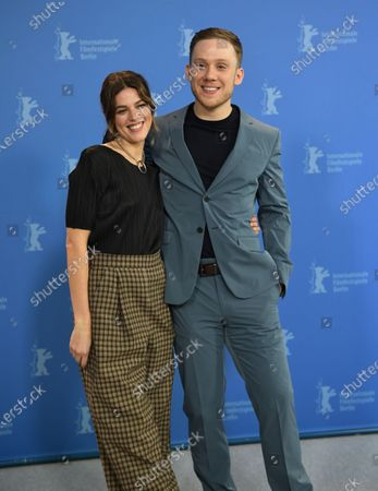 Callie Hernandez (L) and actor Joe Cole pose during the 'One Of These Days' photocall during the 70th annual Berlin International Film Festival (Berlinale), in Berlin, Germany, 22 February 2020. The movie is presented in the Panorama section at the Berlinale that runs from 20 February to 01 March 2020.