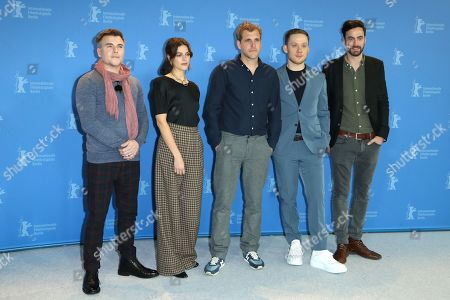 Stock Photo of Cullen Moss, Callie Hernandez, Bastian Günther, Joe Cole and Martin Heisler