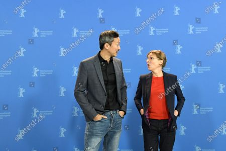 US actor Orion Lee (L) and US director Kelly Reichardt pose during the 'First Cow' photocall during the 70th annual Berlin International Film Festival (Berlinale), in Berlin, Germany, 22 February 2020. The movie is presented in the Official Competition at the Berlinale that runs from 20 February to 01 March 2020.