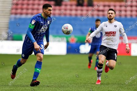 Wigan Athletic defender Leon Balogun in action during the EFL Sky Bet Championship match between Wigan Athletic and Millwall at the DW Stadium, Wigan