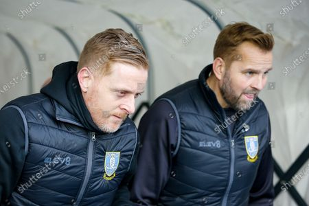 Sheffield Wednesday manager Garry Monk emerges from the tunnel for the first time since being sacked as manager of Birmingham City, Goalkeeper Coach Nicky Weaver,during the EFL Sky Bet Championship match between Birmingham City and Sheffield Wednesday at the Trillion Trophy Stadium, Birmingham