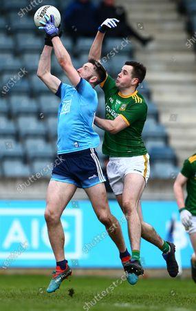 Dublin vs Meath. Dublin's Ciaran Archer with Meath's Liam Byrne