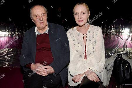 Stock Picture of Dario Argento and Maria Casale