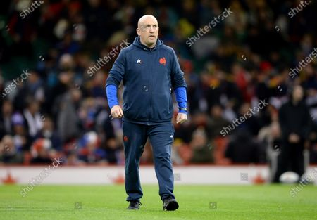 France defence coach Shaun Edwards before the match
