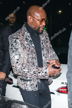 Floyd Mayweather Jr. outside Boulevard 3 in West Hollywood