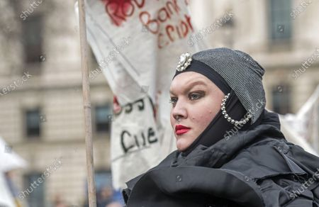Editorial picture of Don't Extradite Assange protest, London, UK - 22 Feb 2020