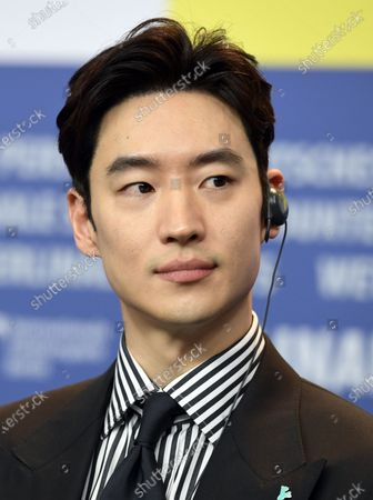 Lee Je-hoon attends the 'Sa-Nyang-Eui-Si-Gan' press conference during the 70th annual Berlin International Film Festival (Berlinale), in Berlin, Germany, XX February 2020. The movie is presented in the Berlinale Special section at the Berlinale that runs from 20 February to 01 March 2020.