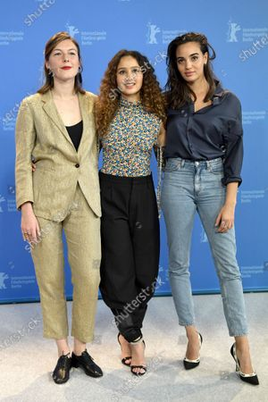 Louise Chevillotte,Oulaya Amamra and  Souheila Yacoub pose during the 'Le Sel Des Larmes (The Salt of Tears)' photocall during the 70th annual Berlin International Film Festival (Berlinale), in Berlin, Germany, 22 February 2020. The movie is presented in the Official Competition at the Berlinale that runs from 20 February to 01 March 2020.